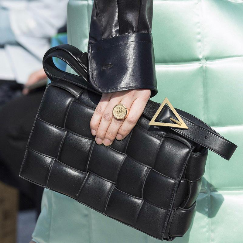 Kadın 2019 için Yastıklı Deri Zarf Çanta Çanta Kadınlar Çanta