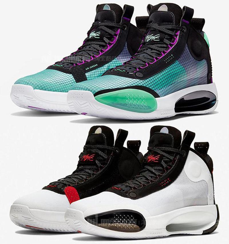Top Quality Jumpman XXXIV 34 zapatos de baloncesto de Vacío Azul 34s zoom Eclipse Bred ámbar Rise Pe resplandor verde metálico de plata para hombre de las zapatillas de deporte Deportes