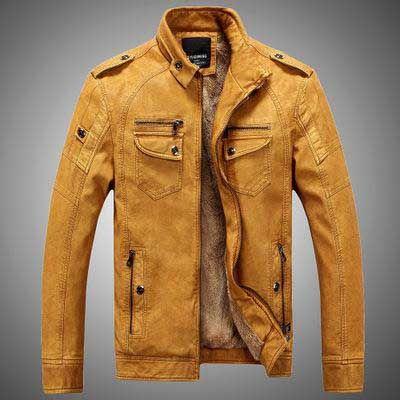 Marca Designer Homens do revestimento do revestimento de couro Moda gola Slim Fit de lã grossa Men Casacos de outono inverno
