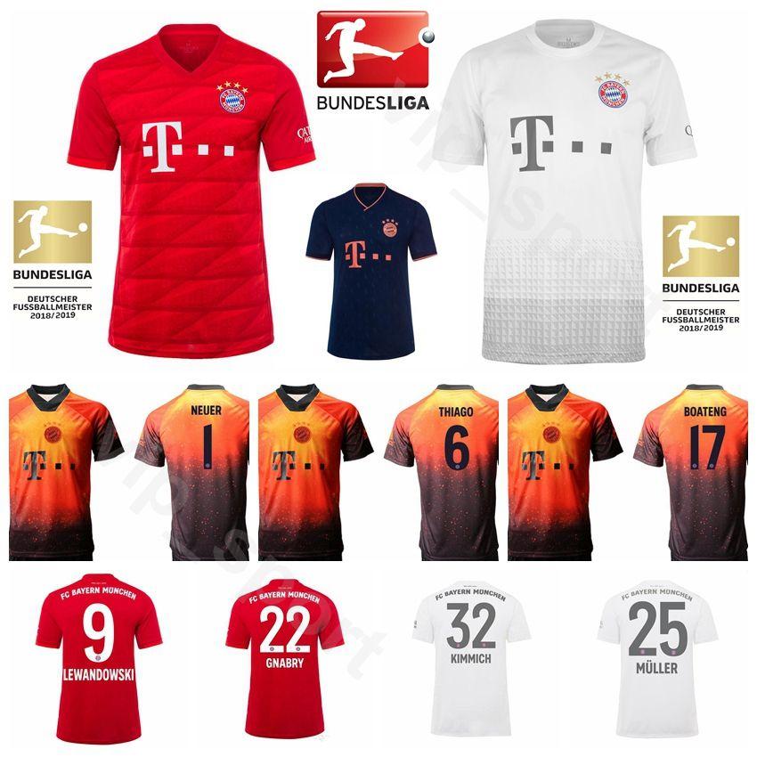 2019 2020 بايرن ميونيخ الالماني لكرة القدم 25 MULLER جيرسي 32 KIMMICH 9 LEWANDOWSKI 22 أطقم قميص GNABRY 18 GORETZKA 7 DAJAKU 5 PAVARD كرة القدم