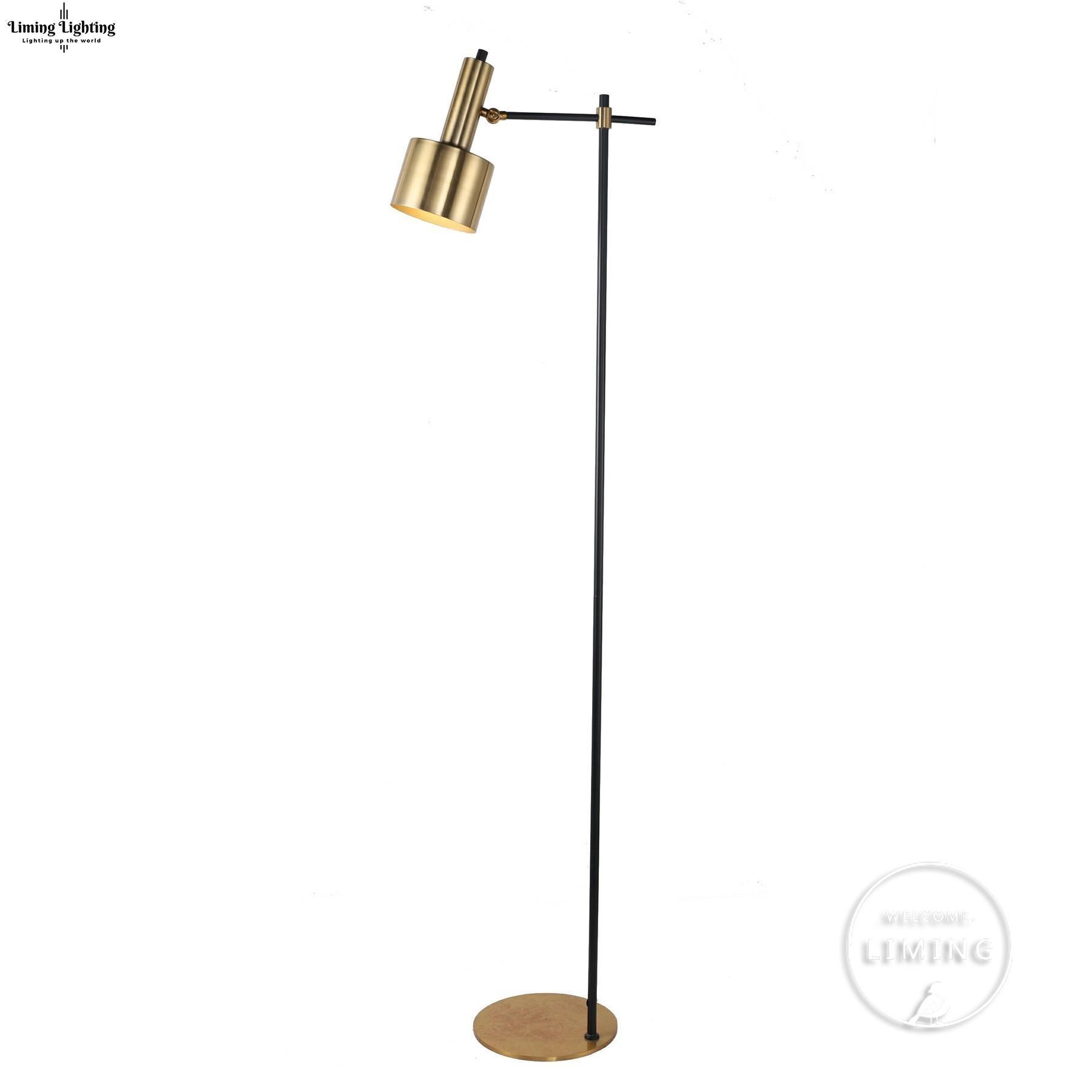 Grosshandel Kreative Einfache Retro Moderne Stehlampen Kupfer Led