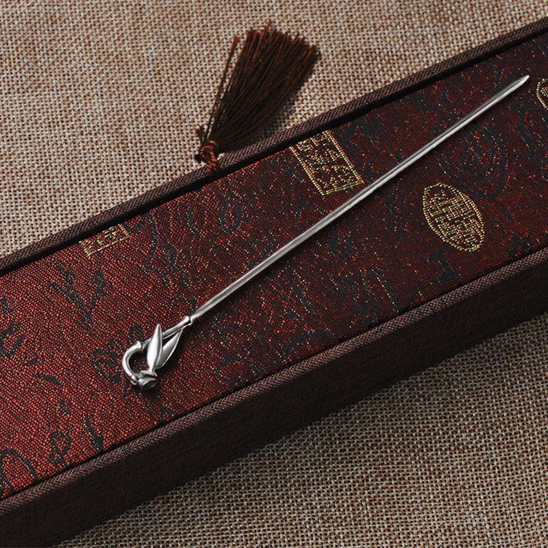 Bamboo Leaf ручка волос женщин 925 стерлингового серебра Шпилька китайский Handmade Этнические украшения заколки для волос Vintage Китай Air Express