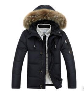2019 nouvelle veste vers le bas de grande taille hommes hommes épais modèles d'explosion hiver OEM grande veste col de fourrure