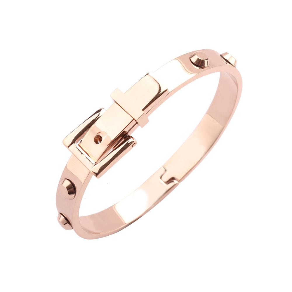 الوردي ColorBracelet العلامة التجارية الجديدة بيل تصميم جيد المعادن مجوهرات الفولاذ المقاوم للصدأ سوار هدية لماما الأزياء التبعي