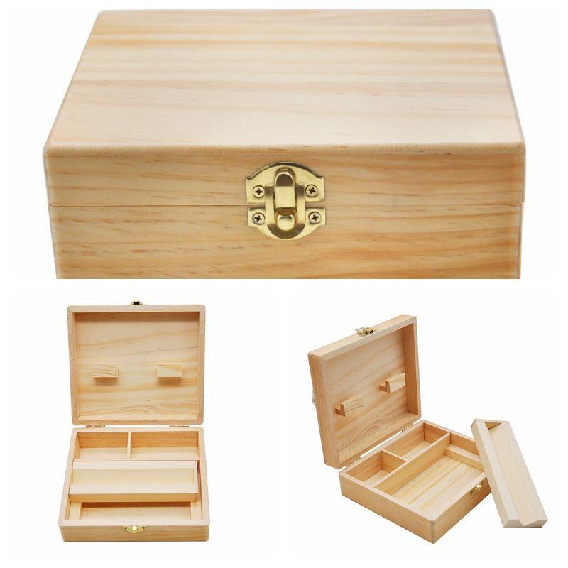 bac à cigarettes plateau de table d'opération de la machine à cigarette pin cigarette plateau en bois double plaque utilisation Livraison gratuite YH ST023