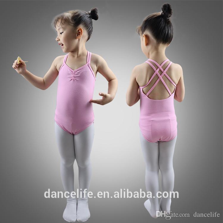 Child ballet leotard C2038 wholesale crisscrossover kids dance wear