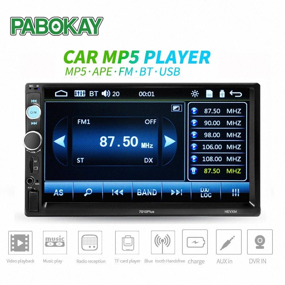 7 pulgadas del coche universal Reproductor multimedia 2 Din Car Radio HD Bluetooth MP5 Media Player TF de la ayuda FM Cámara de visión trasera H3EM #