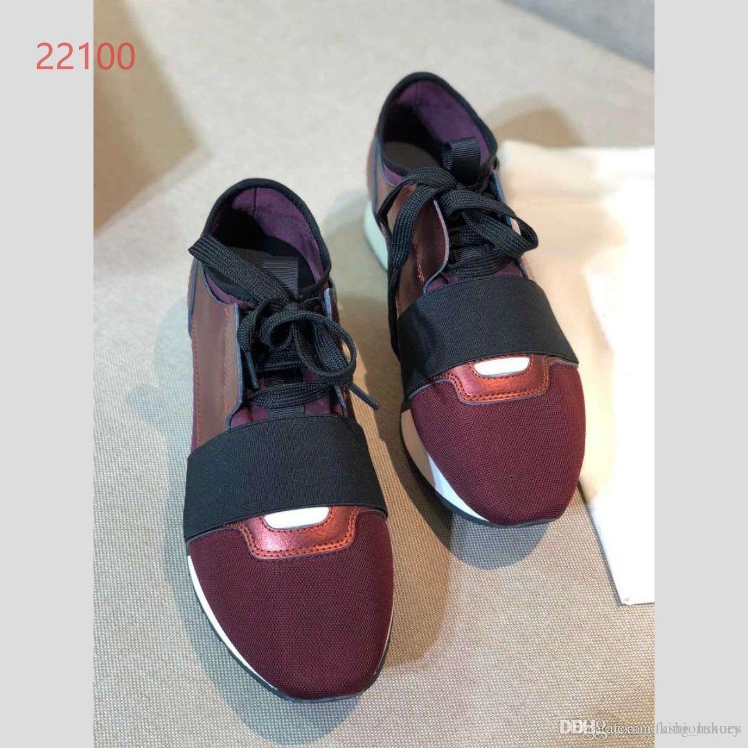 La nuova tendenza della moda nel 2019 è sport leggeri e di coppia per il tempo libero scarpe (balck e rosso scuro)