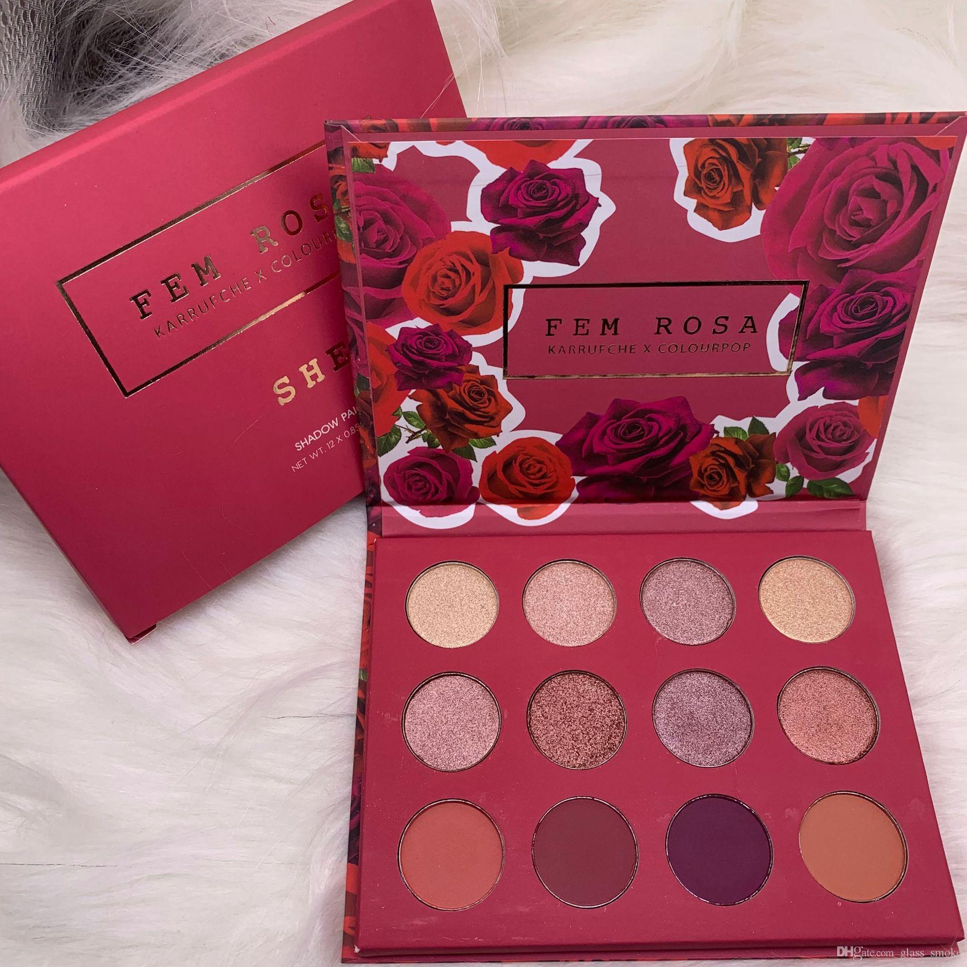 العلامة التجارية Eyeshadow Makeup Colourpop Collection 12 ألوان Karrueche Fem Rosa She Eyeshadow palettes Sunset Eye Shadow