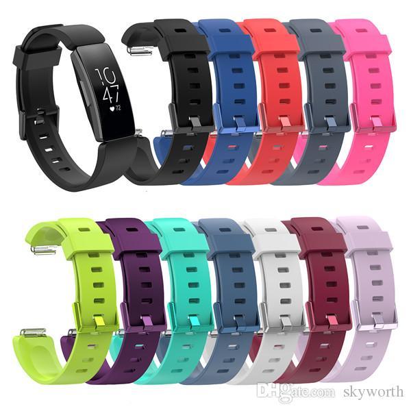 Fitbit의 경우 HR 스트랩 실리콘 손목 스마트 시계 밴드 Inspire Activity Tracker 스마트 시계 액세서리 Watchband Bracelet