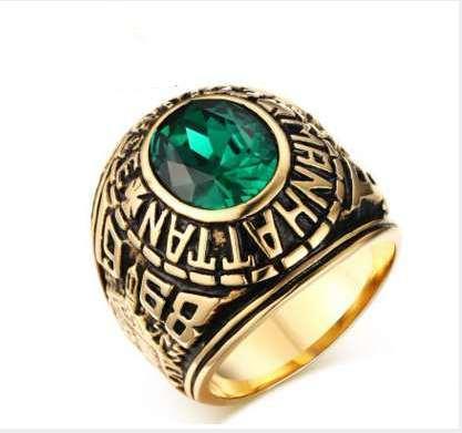 Большое Каменное кольцо Мужчину Рок Кольца CZ камень дизайнер ювелирного изделия Marine Micro Асфальтовый горячий дизайн для качества Моды Мужчину Hight