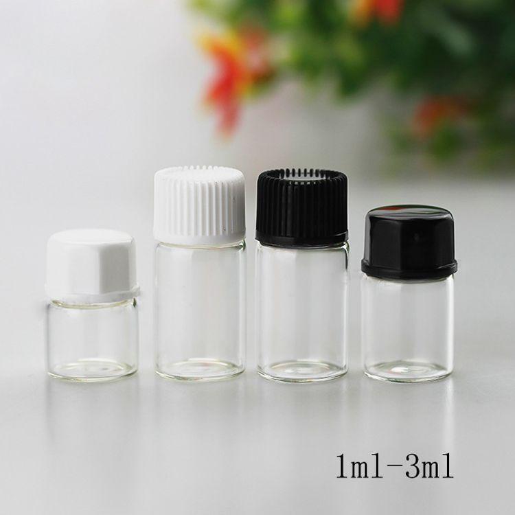 الجملة 1ML 2ML 3ML مسح زجاج القطارة زجاجات البسيطة الحاويات الزيوت العطرية صغيرة عصير قوارير الزجاج للE Eliquid