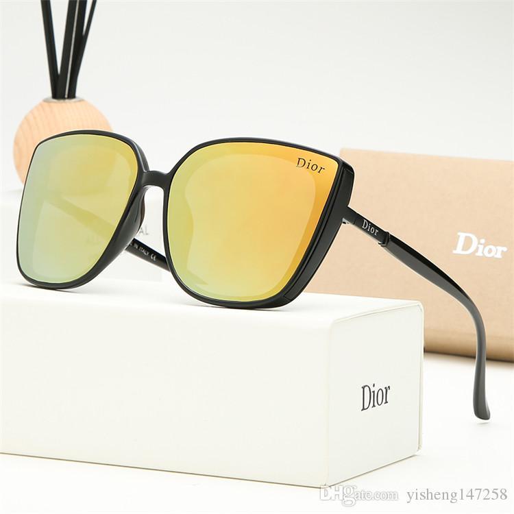 2019 occhiali da sole classici da uomo in oro con occhiali da sole di marca di lusso firmati occhiali da sole popolari con scatola originale