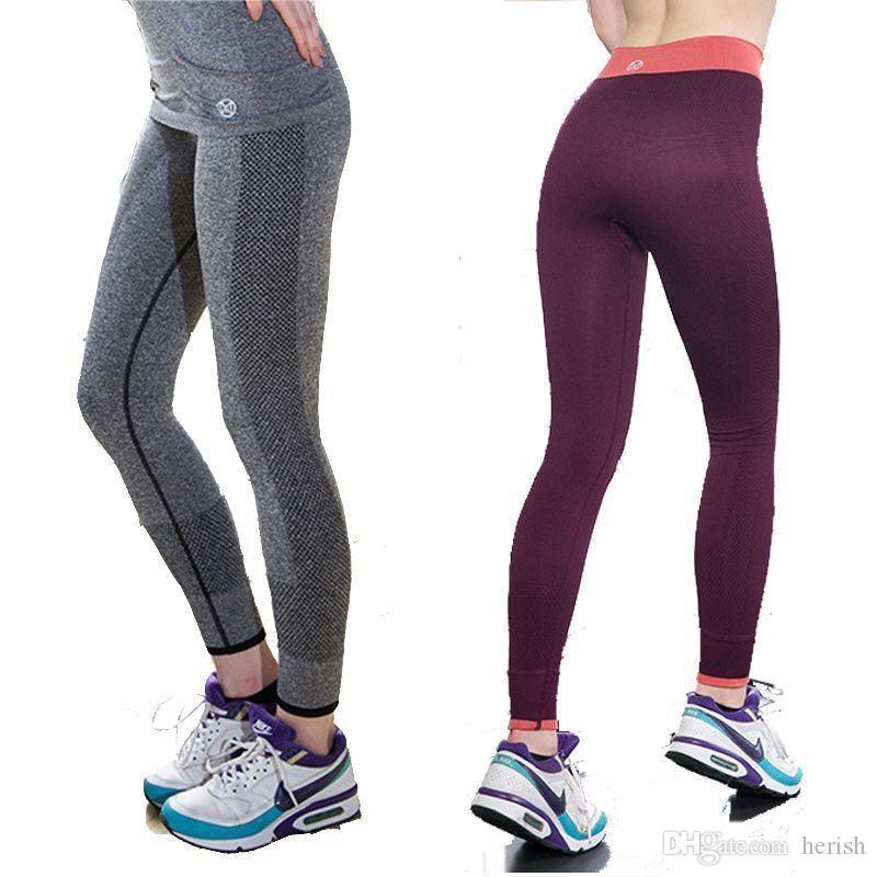 New Verschieben Marke Sex hohe Taillengamaschen Fitness gereckt Kleidung Spandex Frauen aktiv Hosen 5 Farbe fit 42-68 kg