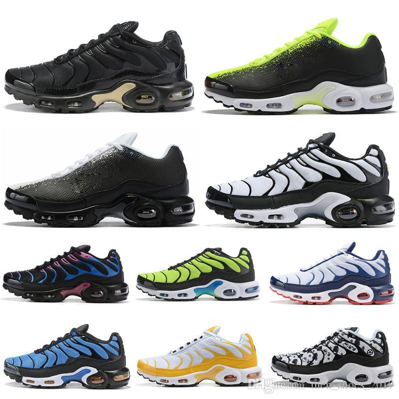 Nike Air Max Tn Plus De Course Pour Hommes Femmes Noir Pentecôte Hyper Bleu Noir Vert Volt Mens Designer Sneakers Formateurs Chaussures de sport taille 36-45