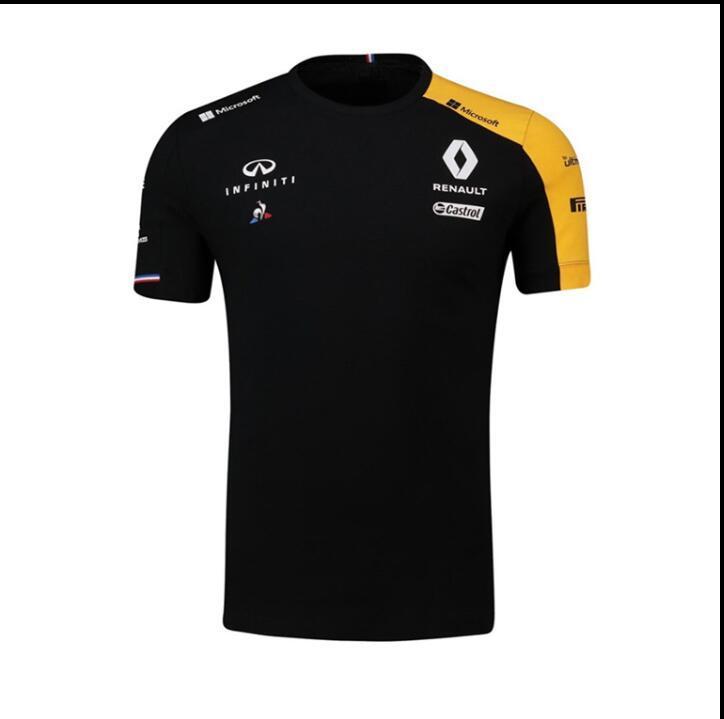 F1 Renault Ricardo conducente 2020 T-shirt a maniche corte vestito squadra poliestere tuta ad asciugatura rapida stessa personalizzato