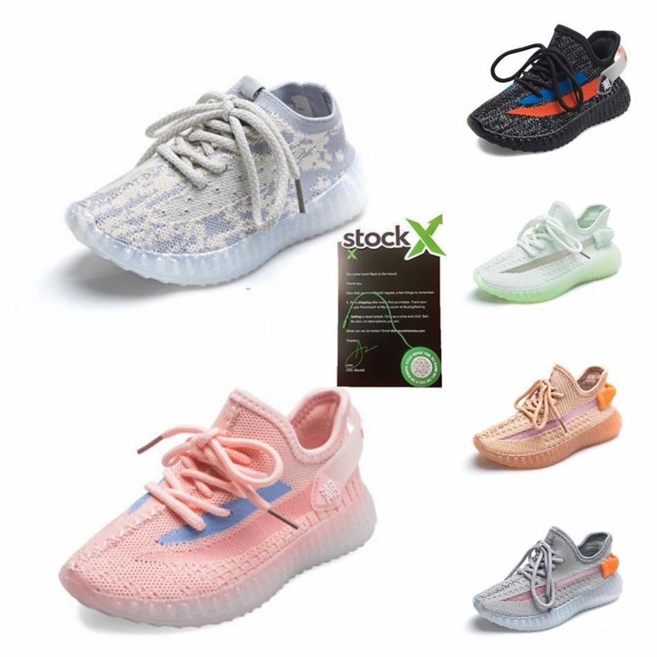 2020 nuovi pattini per bambini Kanye West V2 Scarpe da corsa riflettente scarpe da tennis di Clay ragazza del neonato del bambino scarpa da tennis Zebra Nero Grigio Bianco # 222