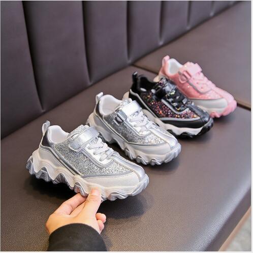 Sports Sapatos Boys' sapatos pai prata do bebê Moda Crianças sapatos onda de onda de 2020 novos best-seller de primavera e outono meninas