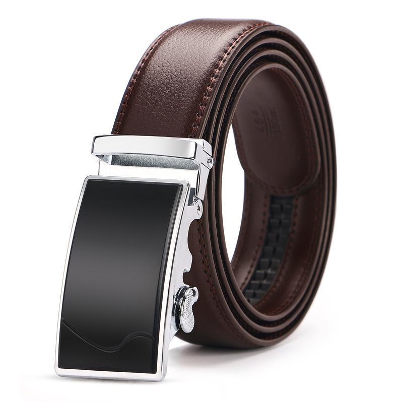 140 150сма Большого размера Автоматической пряжка пояс для мужчин высокого качества для мужчин натуральной кожи бизнеса Ремни дизайнера бренда Luxury Brown T200615