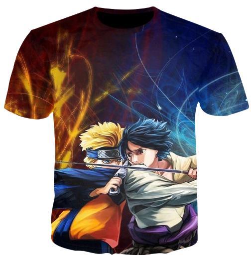 6e7074b90 Compre Nueva Moda Anime Naruto Sasuke Uchiha T Shirt Impresión En 3D  Hombres / Mujer Unisex Divertido Verano Cuello Redondo Manga Corta Casual  Tops ...