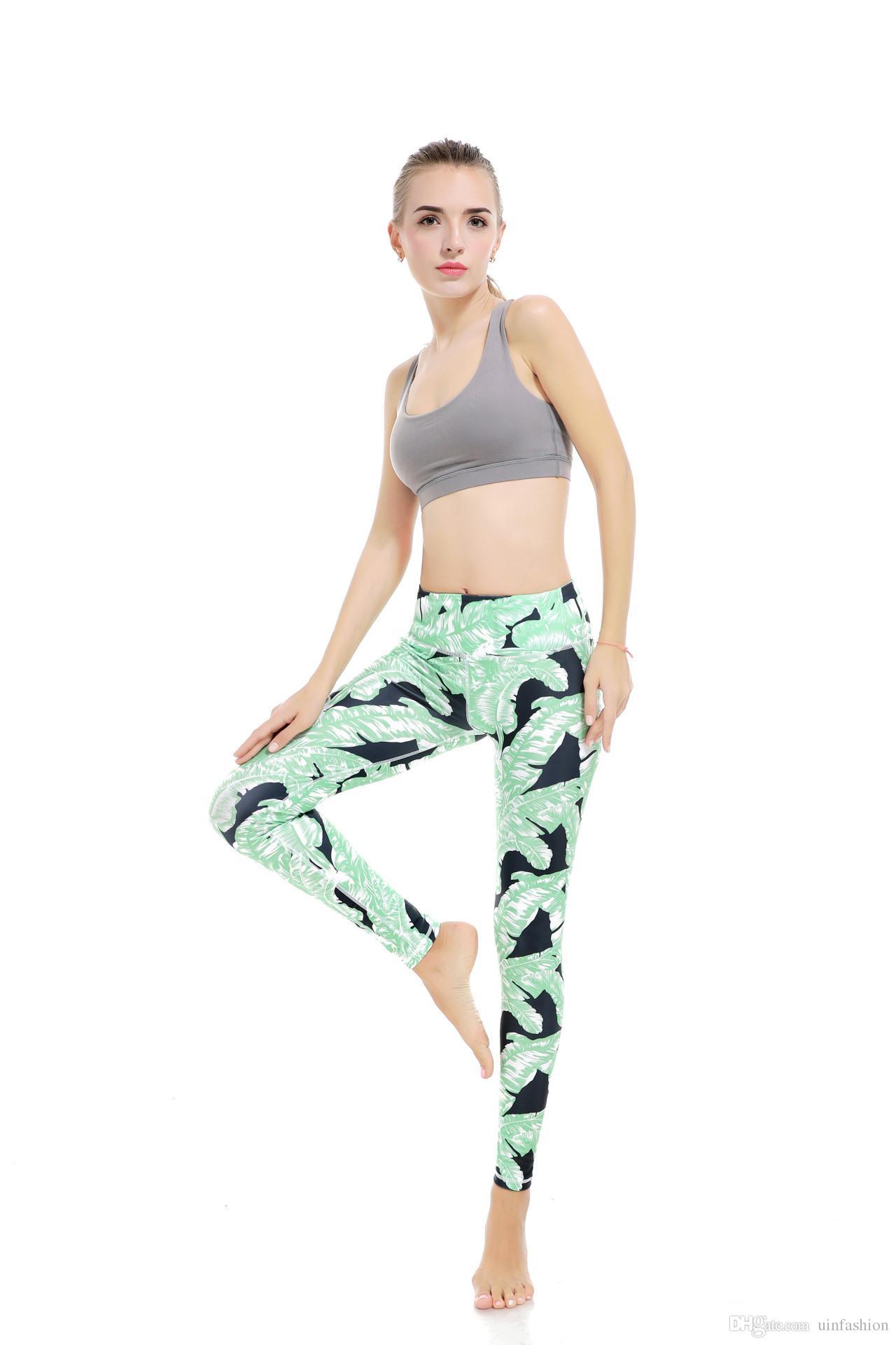 Fitness Yoga Pants Women Leggings Floral Workout Sports Running Leggings Sexy Push Up Gym Training Wear Elastic Slim Pants