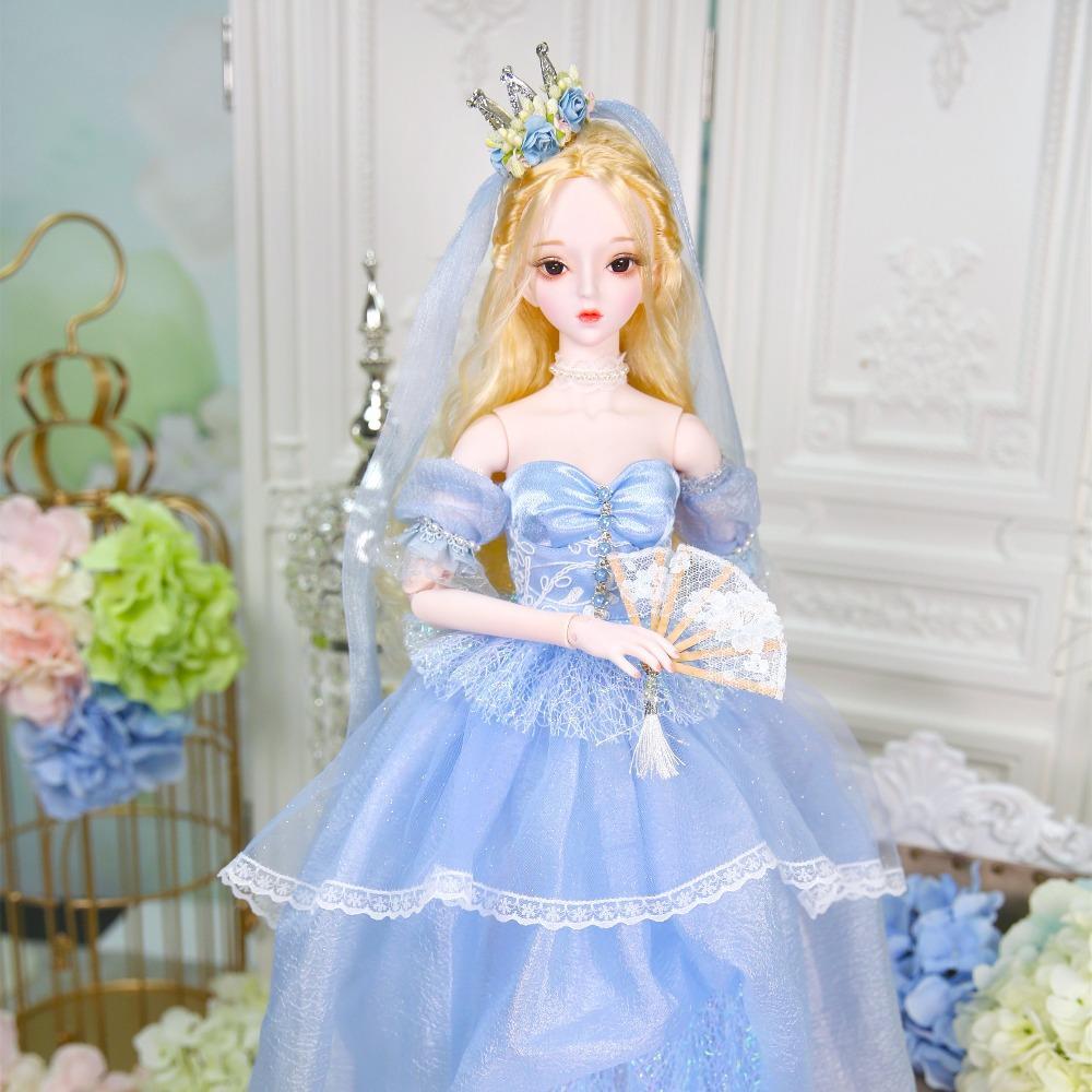 Dream Fairy Jouet 1/3 BJD Poupée 62cm Corps joint Peau blanc avec des chaussures de vêtements AI YOSD MSD Kit SD Kit Jouet Baby cadeau DC