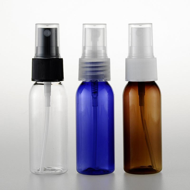 Ücretsiz nakliye, losyon sıvı ilaç 100pc / lot için 1 onzluk plastik boş şişeler pompa seyahat PET şişe sprey 30 mi