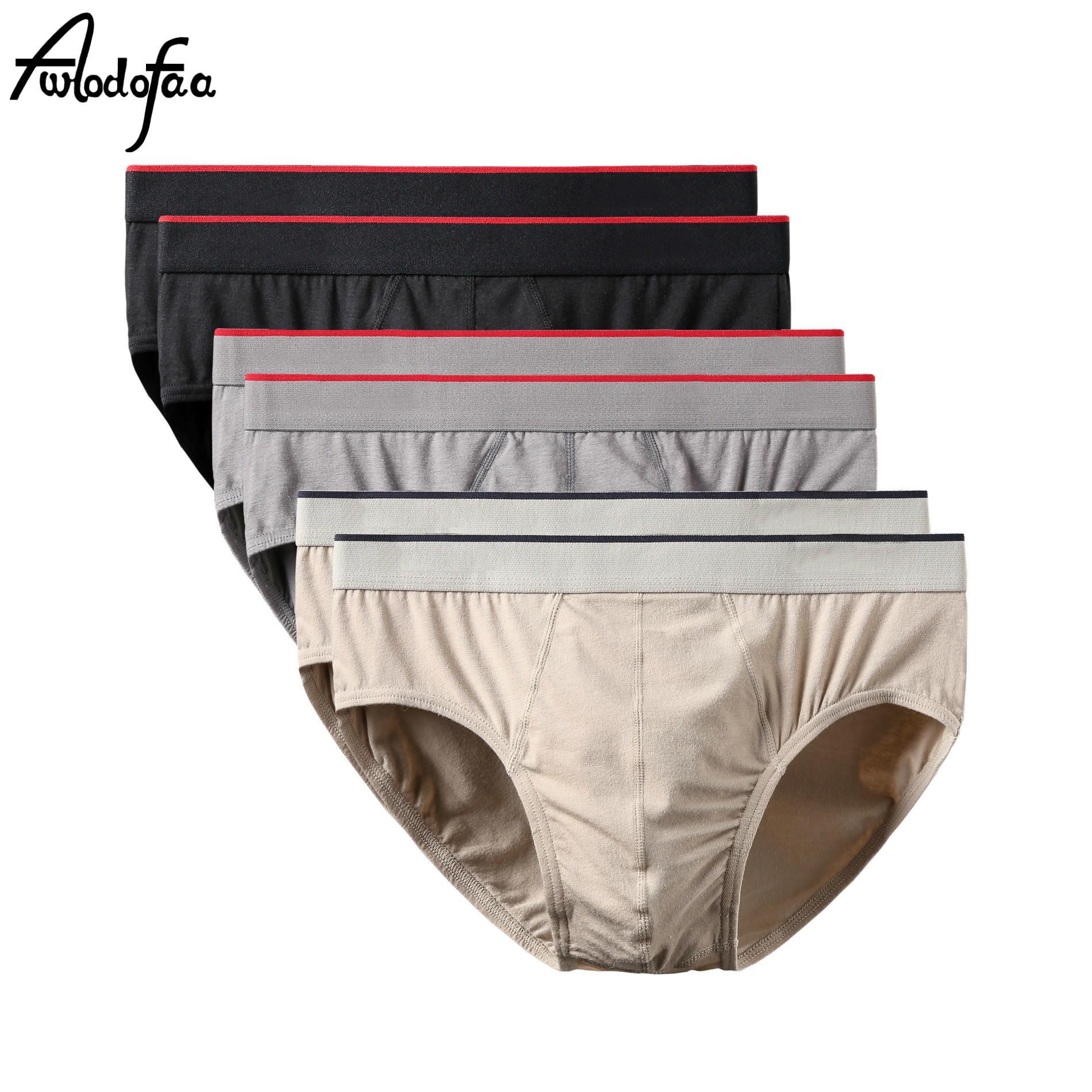 6pcs / lot Mode Hommes Coton Slips Shorts Homme Sous-vêtements sexy Comfy Briefs solides hommes usine Bikini Slip Plus Size Culotte T200511