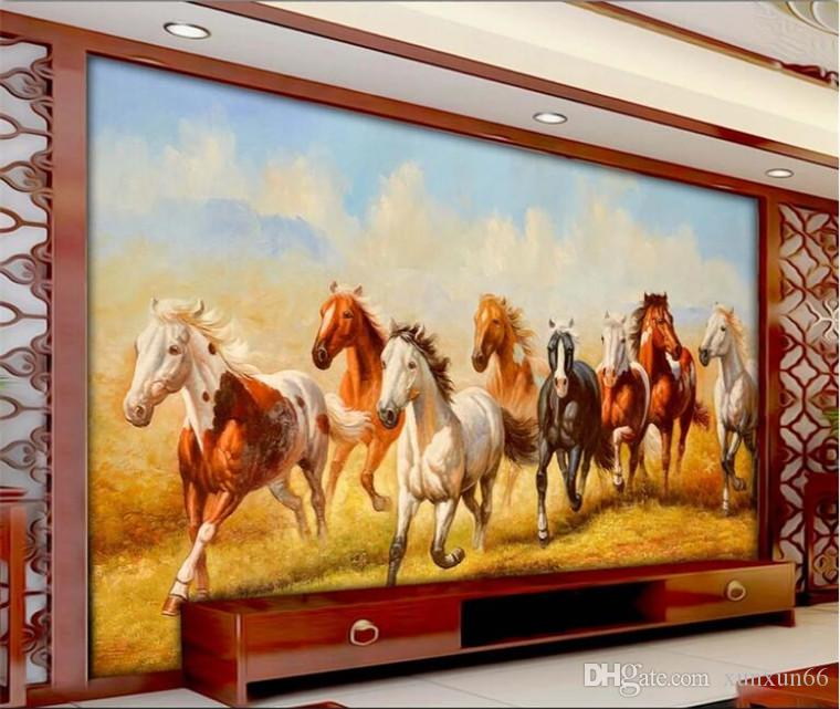 Custom Horse Wallpaper 3d For The Living Room Bedroom Tv