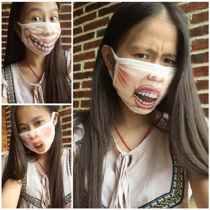 빠른 세척 재미있는 만화 돼지 얼굴 입 안티 먼지 PM2.5면 얼굴 입이 얼굴 재사용 패션 입 마스 T1 마스크 마스크 마스크 출시