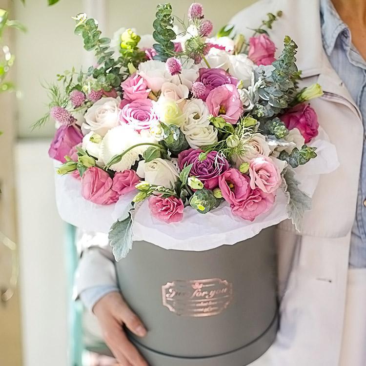 مل 3pcs / مجموعة فقط بالنسبة لك جولة طرف زهرة دلو الحلوى هدية مربع دلو هدية مربع التعبئة زهور الزفاف الشحن المجاني