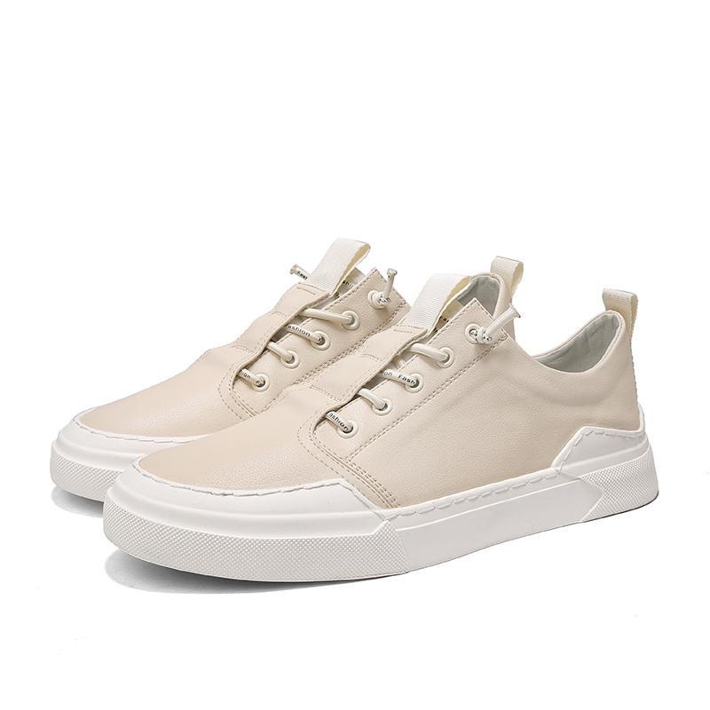 Gli uomini delle scarpe da tennis bianche degli appartamenti degli uomini di sport scarpe autunno il comfort per il tempo libero versione coreana dei pattini degli appartamenti degli uomini Chaussures vulcanizzata *