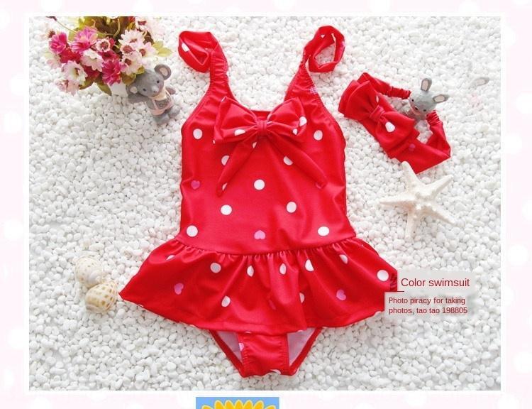 children's Dress cute girl's one-piece skirt children's Dress swimsuit baby cute baby girl's one-piece skirt swimsuit