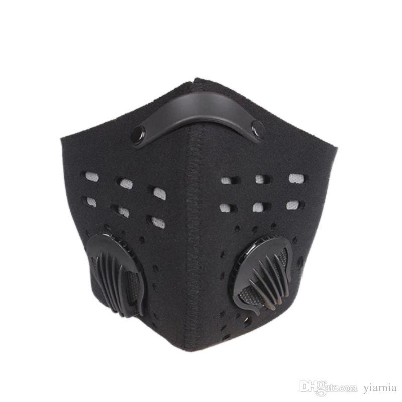 Открытый езда оборудование на открытом воздухе езда маска ветрозащитный пыле анти-туман маска для лица активированный уголь Маска