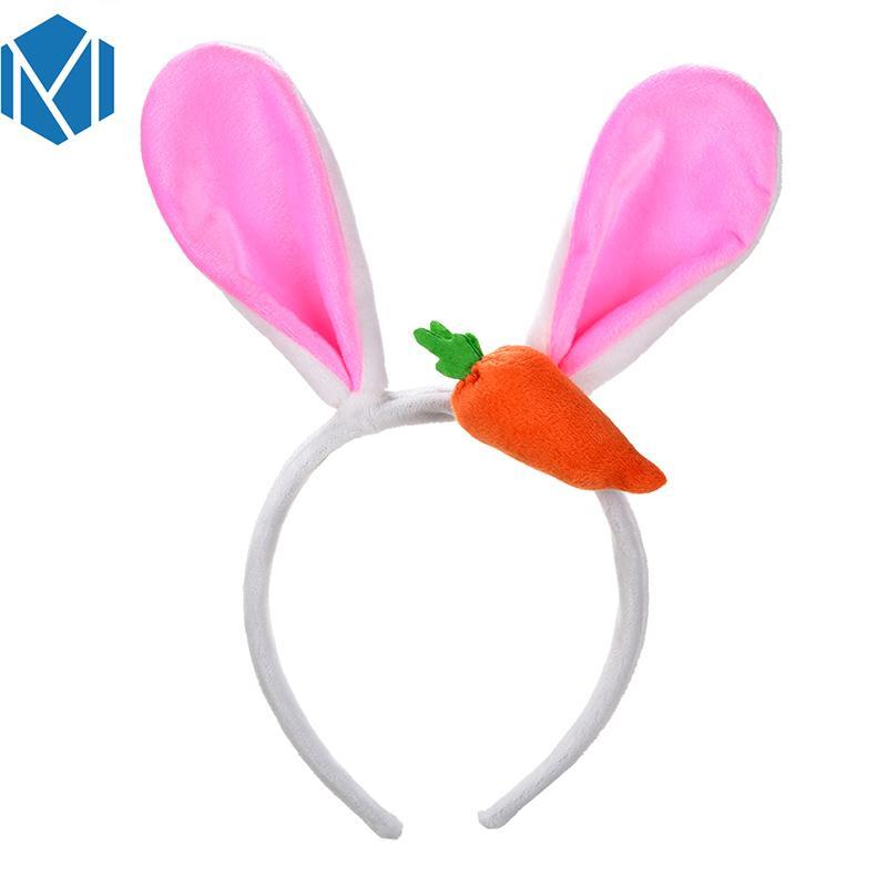Lovely Big Rabbit Ears Headbands Women Plush Fluffy Cartoon Hair Bands Accessories For Girl Cosplay Party Soft Headwear
