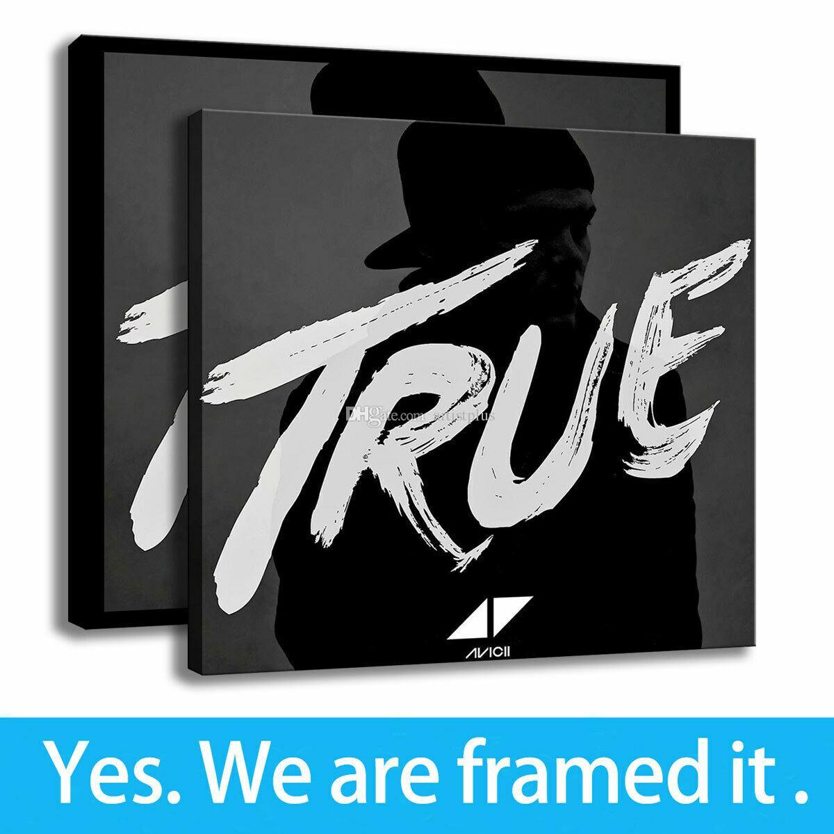 Avicii vera arte su tela Lettera HD stampabile Ufficio di Deco della parete creativo pittura artistica con cornice - pronta per essere appesa - Supporto di personalizzazione