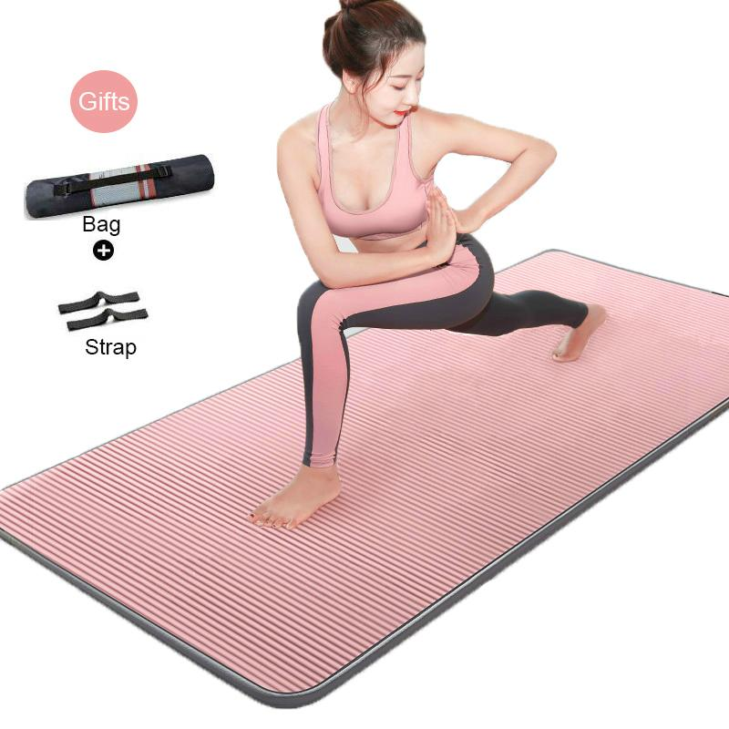 185cm Edge-Yoga couvrant l'exercice Mat Épaissir les femmes élargissement antidérapante Yoga Pilates Dance Fitness Gym Pad Home Fitness débutants