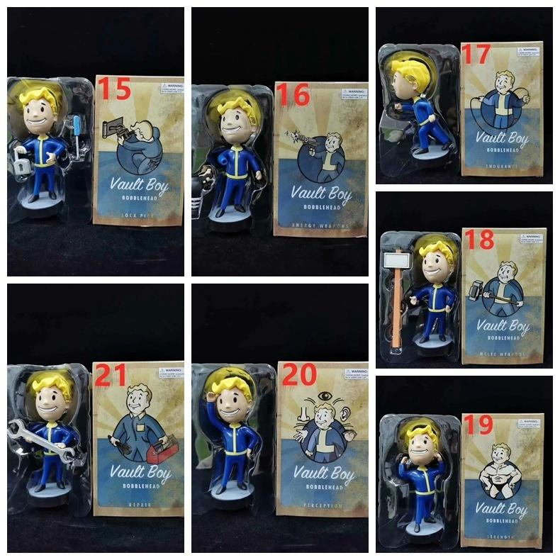 7 PCS Fallout Vault Boy 3 Erzeugungs Dietriche Energiewaffen Endurance Repair-Animation Figuren 15cm