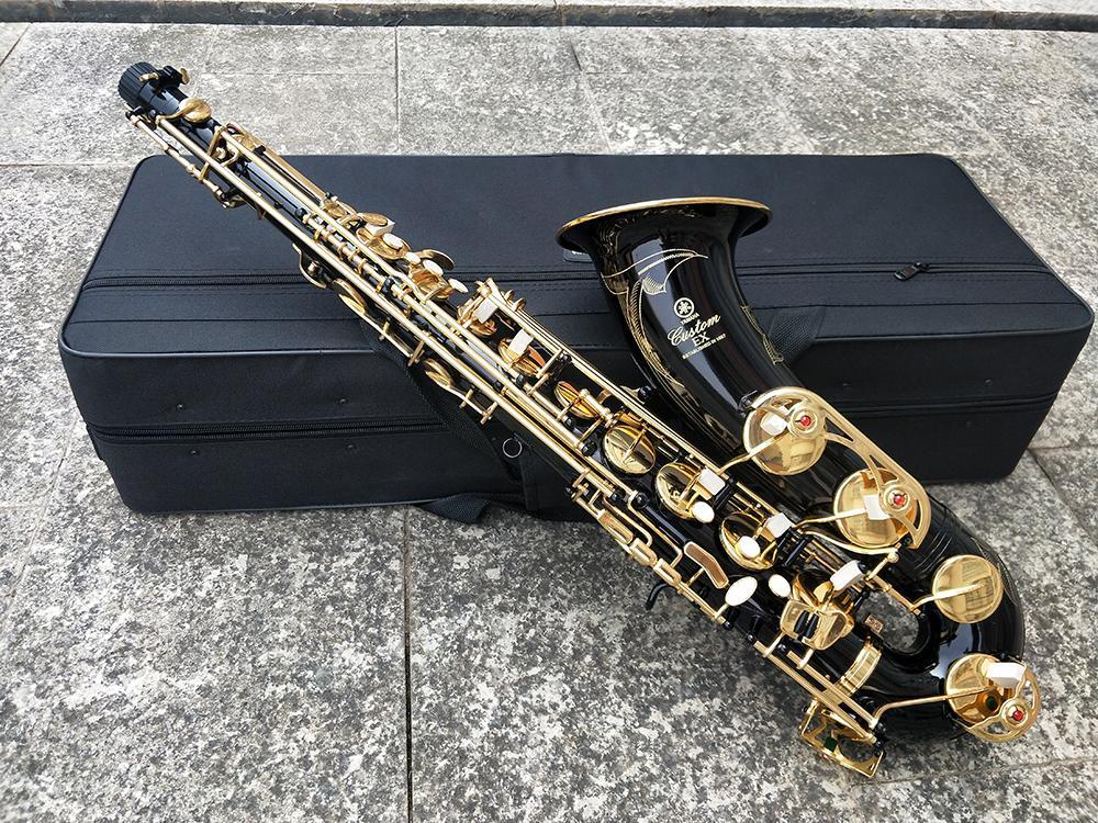 Japón Marca YTS-875EX saxofón tenor B Flat Negro Latón Sax Tenor Sax Tenor Brass Brass Reproducción de música con el caso de instrumentos