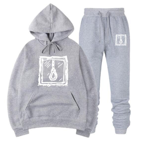 Lil Peep Homens Mulheres High Street Hip Hop Hoodies + calças 2 / peça letras impressas camisolas casual pulôver frete grátis QJT07