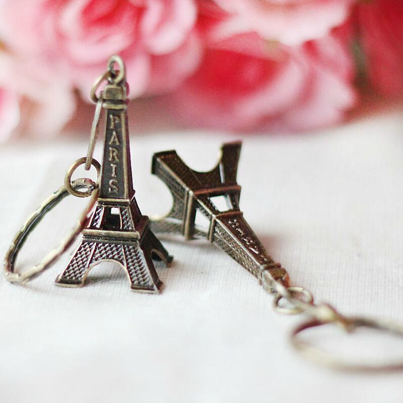 برج تور للمفاتيح التذكارية ، باريس تور ايفل سلسلة المفاتيح الديكور الدائري حامل مفتاح C19011001