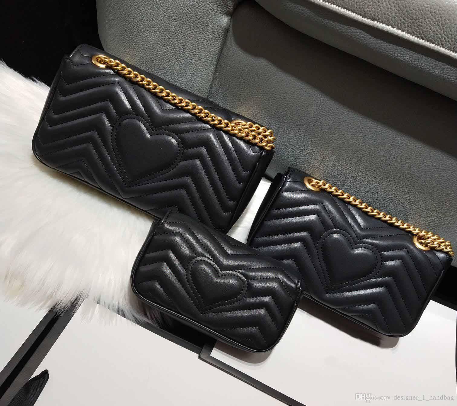 Klasik lüks tasarımcı çanta yüksek kaliteli deri kadın Messenger çanta moda aşk V dalga omuz çantası zinciri çantası