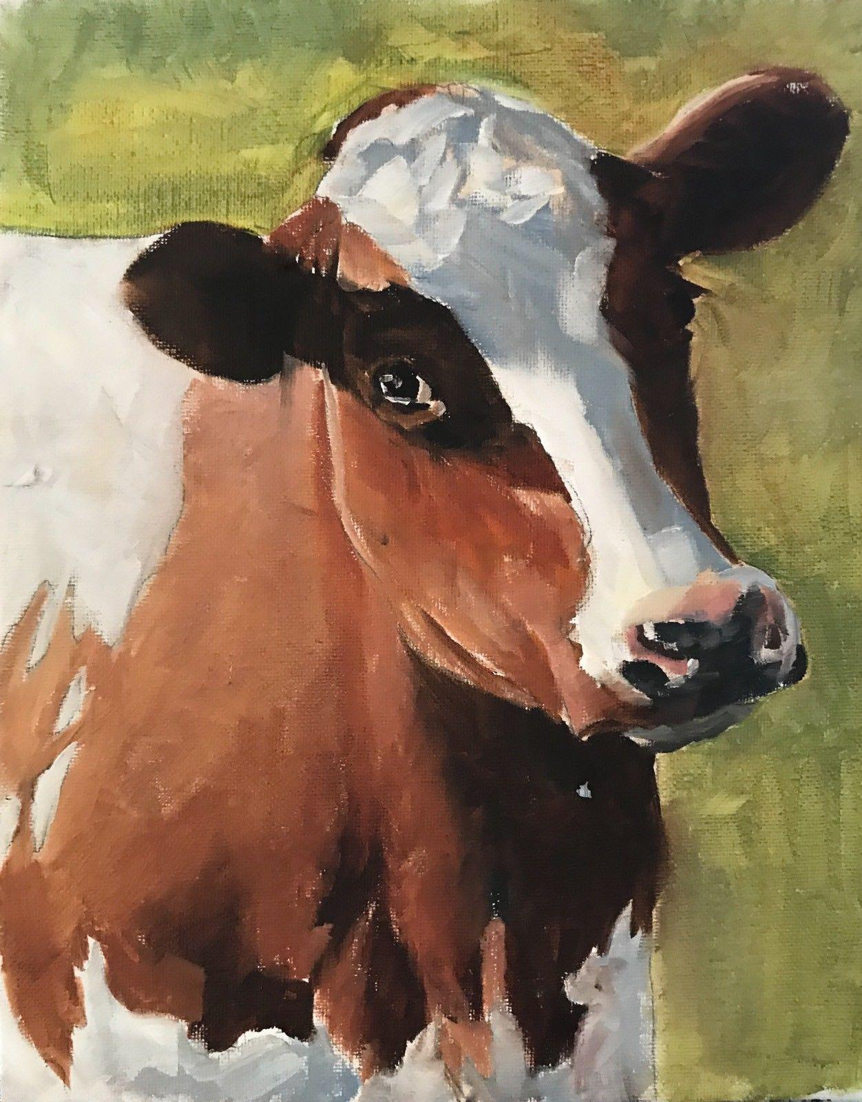 -ej-03137 Animal Cow Home Decor Handpainted Handcrafts Art Oil Painting &HD Print Oil Painting On Canvas Wall Art Canvas Pictures
