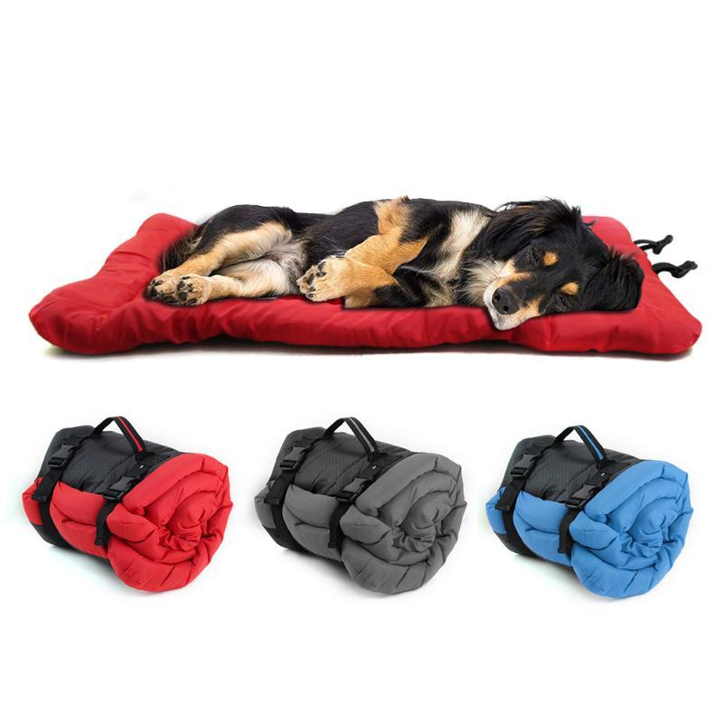 Waterproof Dog Bed Outdoor Portable Foldable Mat Multifunction Pet Dog Puppy Beds Kennel Sofa Cushion For Small Medium Dogs