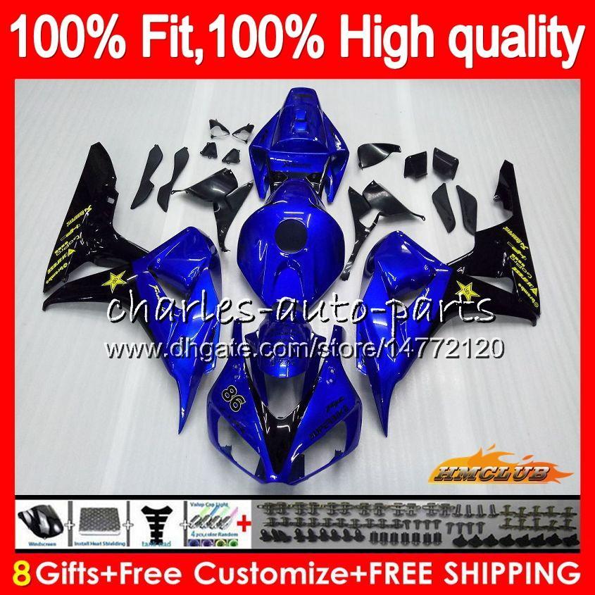 bleu brillant OEM injection pour HONDA CBR 1000 RR 1000CC 06 07 corps 78HC.21 CBR1000 RR CBR 1000RR CBR1000RR 06 07 2006 2007 100% Fit Carénage
