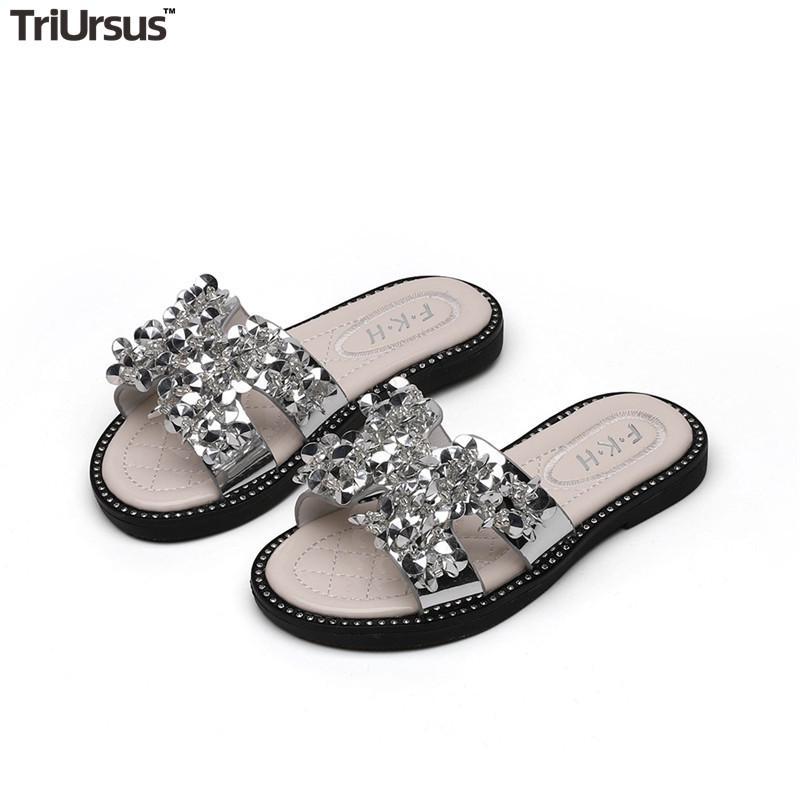 Girls PU Leather Girl Slippers