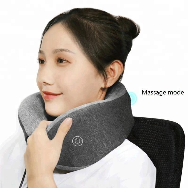 Suave en forma de U Cuello Terapia Masajeador Almohada Dormir Masajear Almohada de salud Portátil para 0ffice Home Travel