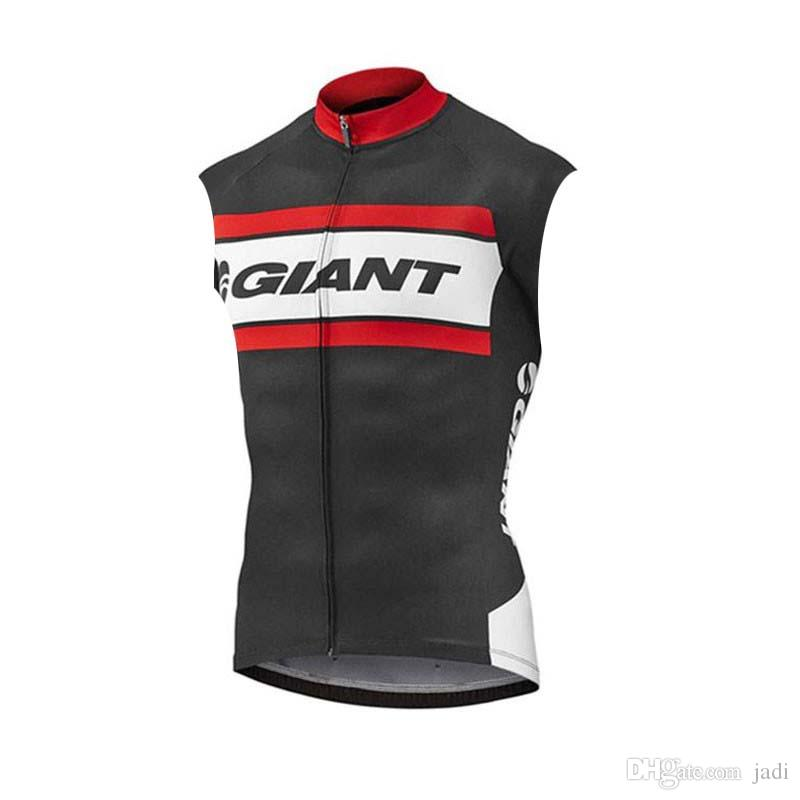 2019 GIANT team Cycling Sleeveless jersey Vest men new high quality outdoor mountain bike sportwear Summer Quick-Dry Bike Clothing K052945