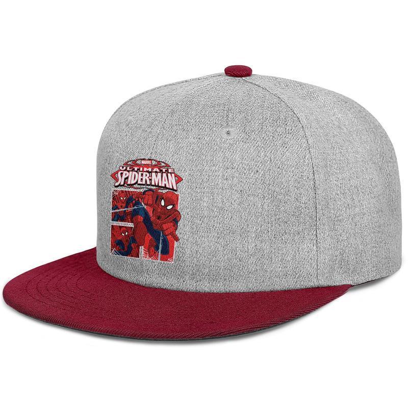 Personalizado Das Mulheres Dos Homens chapéus de bola Spiderman The Avengers plana Brim Hip Hop Snapbacks caps chapéu de sol Hipster