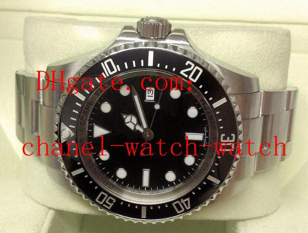44mm 116660 Dweller Sea Edelstahl Herren Automatik Mechanik Uhr Keramik Lünette Glidelock Verschluss Herren Armbanduhren